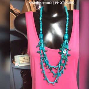 Paparazzi Necklace Wooden Teal